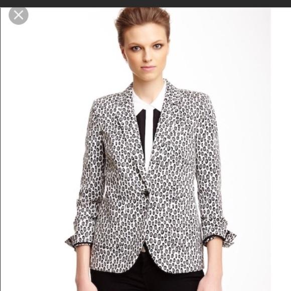 b0555ff8d3b3 Rachel Zoe Jackets & Coats   Charlie Leopard Print Blazer Jacket 6 ...